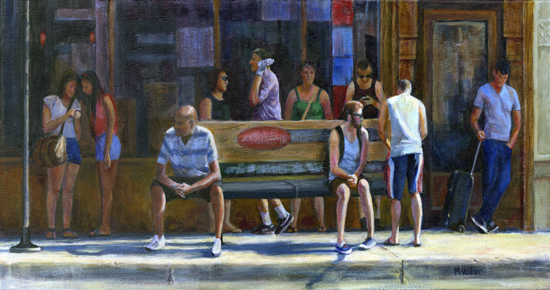 Waiting for the Bus - Acrylic