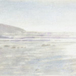 Low Sun at the Oregon Coast - Silverpoint with watercolor underpainting