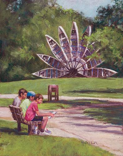 Canoe Sculpture, Gallup Park