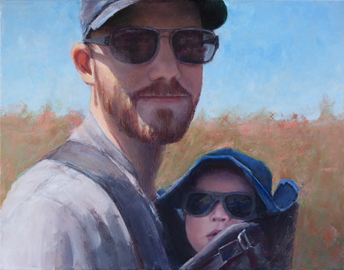 Like Father Like Son - Oil Painting