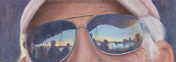 "Double Vision 15"" x 30"" Acrylic Painting"