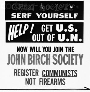 JBS poster register commies not guns