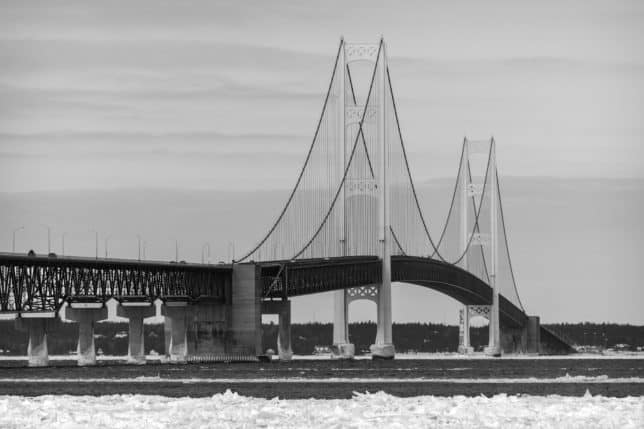 Mackinac Bridge, An Excellent Architectural Photography Subject