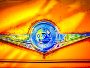 Checker Cab Hood Emblem