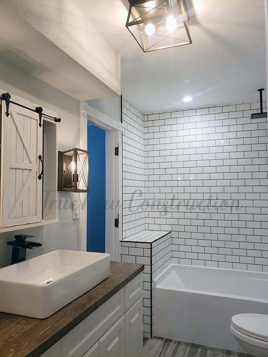 Custom Farmhouse-style Bathroom