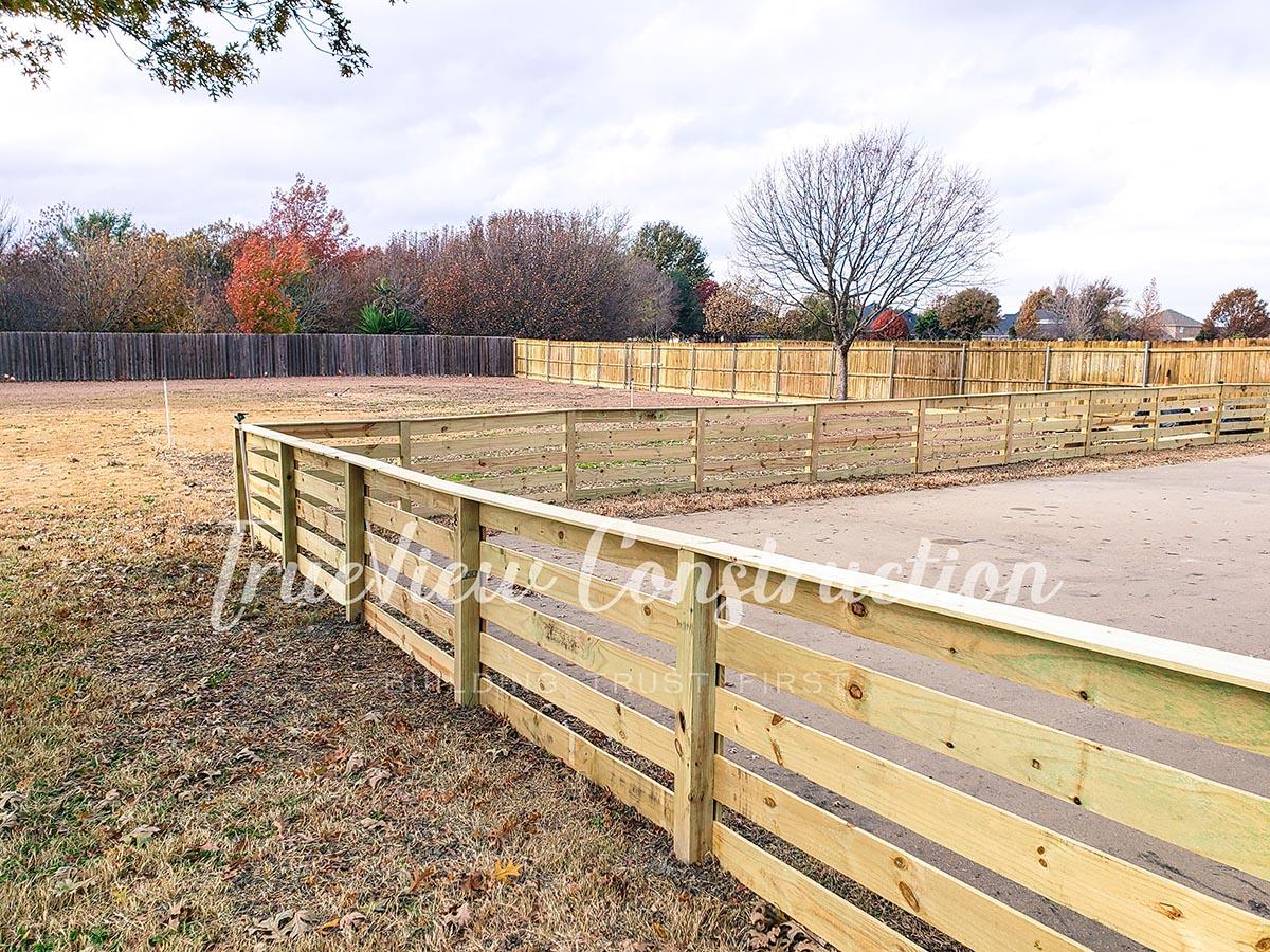 Custom Ranch Style Fence