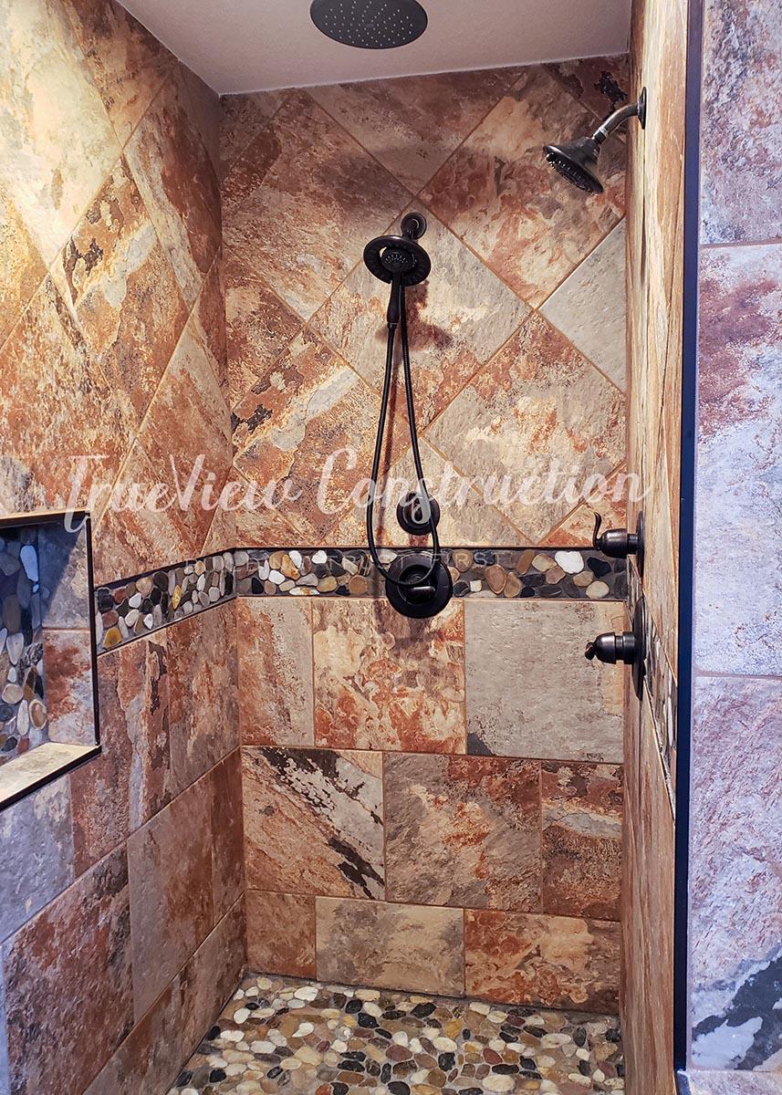 Natural Rock Custom Shower