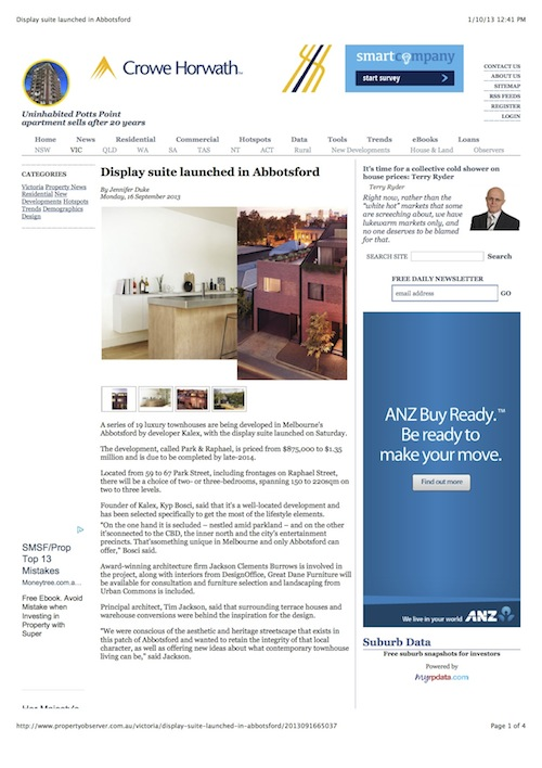 Property Observer – Display suite launched in Abbotsford