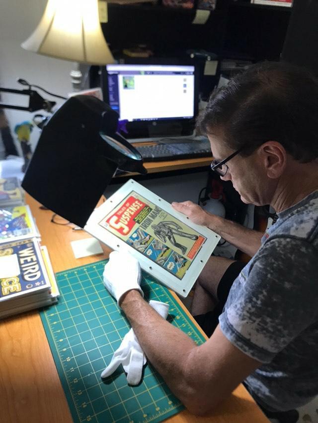 Meet Mike, THE comic book restoration & Pressing expert!