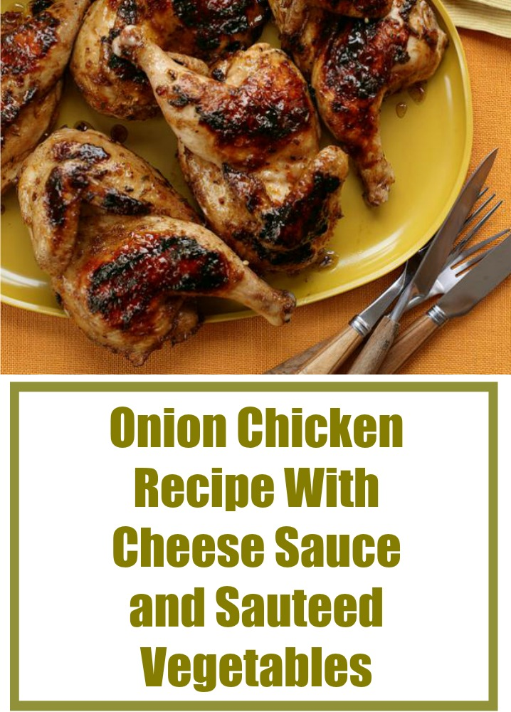 Onion Chicken Recipe With Cheese Sauce