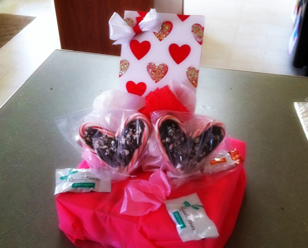 card and valentine's candy