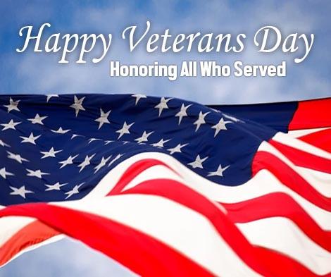 Happy Veterans Day from Certified Boom Repair