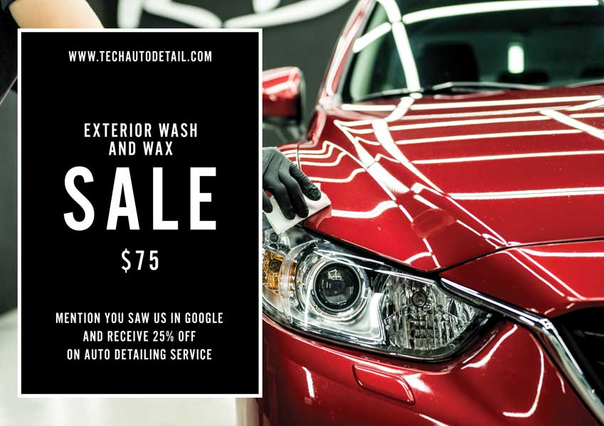 Las Vegas Exterior Wash and Wax for $75