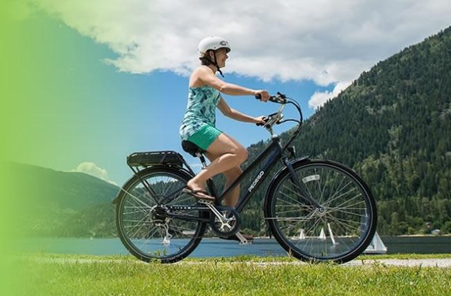 Woman Riding Pedego