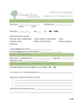 Intake Questionnaire for Parents