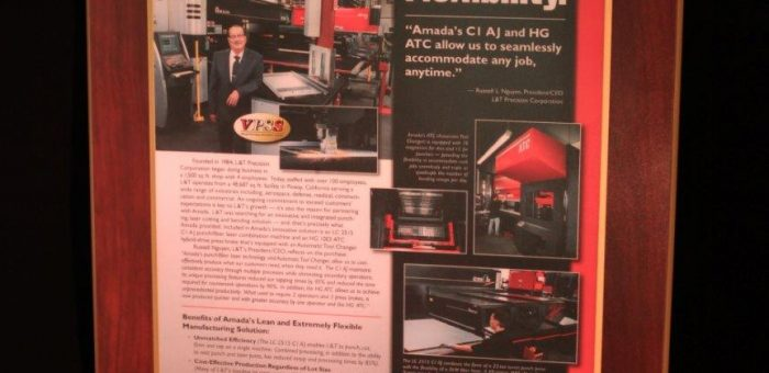 Recognition from AMADA Sheet Metal Fabrication Machines