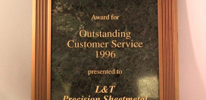TEAL Electronics' Award for Outstanding Customer Service