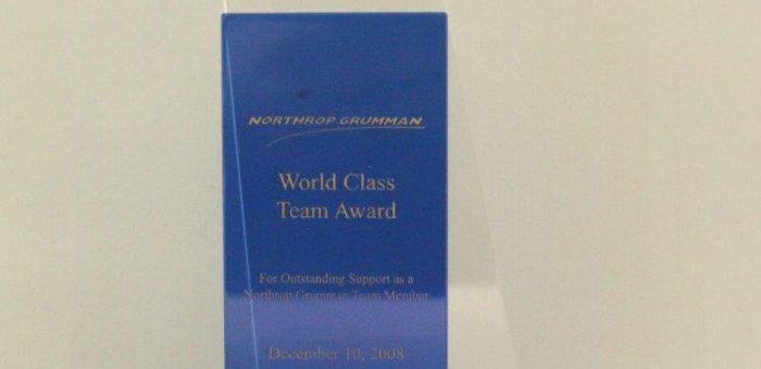 Northop Grumman's World Class Team Award