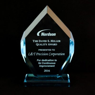 Nordson's David S. Miller Quality Award to L&T Precision 2016