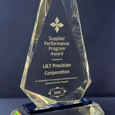 General Atomics Supplier Performance Program Award to L&T Precision 2020