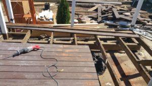 Everlast demolishes our deck, leaves trash in backyard