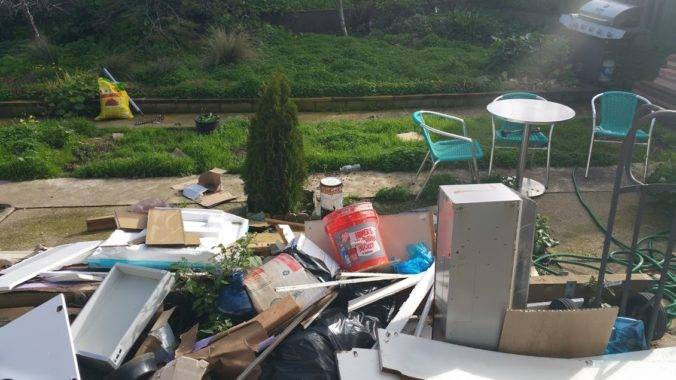 Everlast uses our backyard as a garbage dump