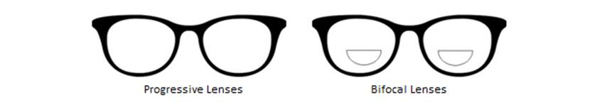 progressive and bifocals lenses