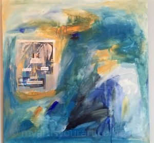My Art is Your Art_ multimedia in blues and yellow by Jessica Ifshin
