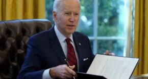 Joe Biden Sitting In Oval Office