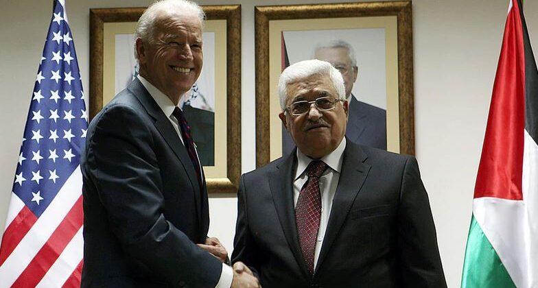Joe Biden Shaking Hands With Atef Safadi
