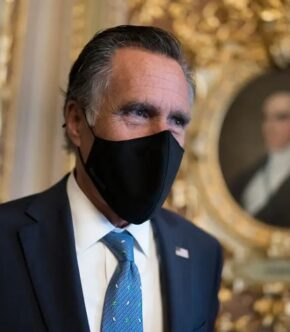Mitt Romney Wearing Face Mask