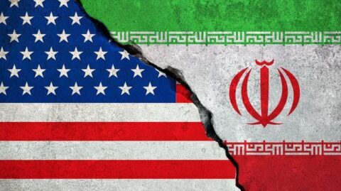 American And Iranian Flags
