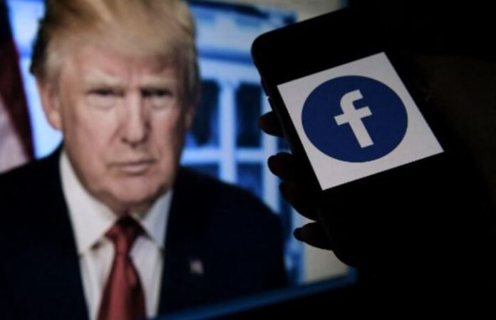 Picture Of Trump Next To Facebook App