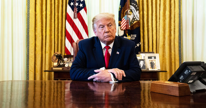 Donald Trump Sitting In Oval Office