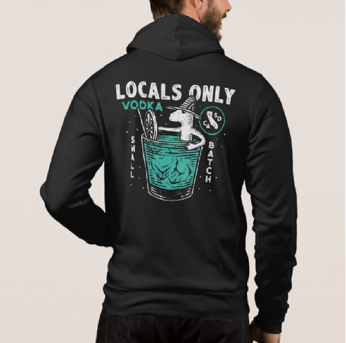 Local only hoodie Front