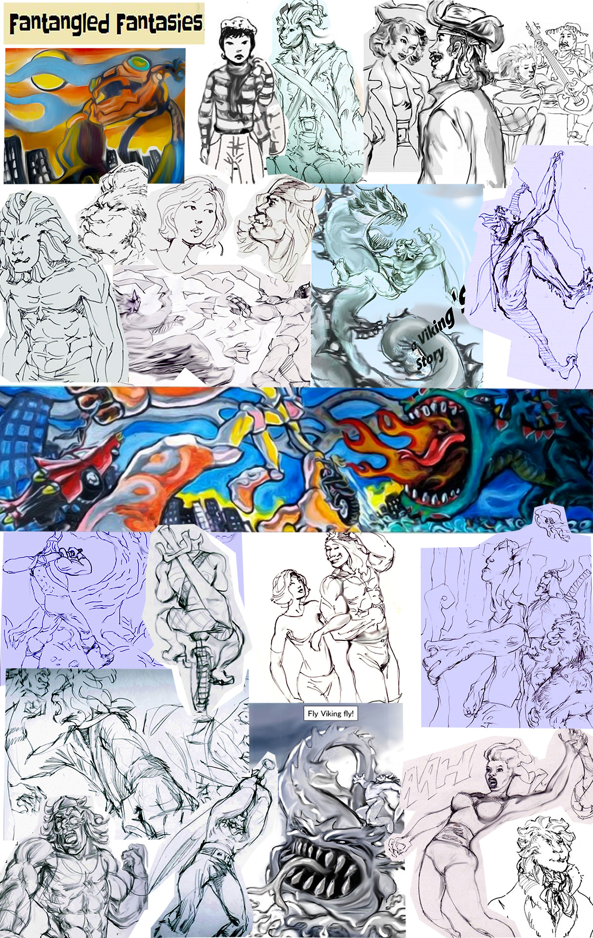 collage of best images from various comics