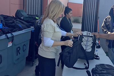 backpacks-homeless engagement lift partnership