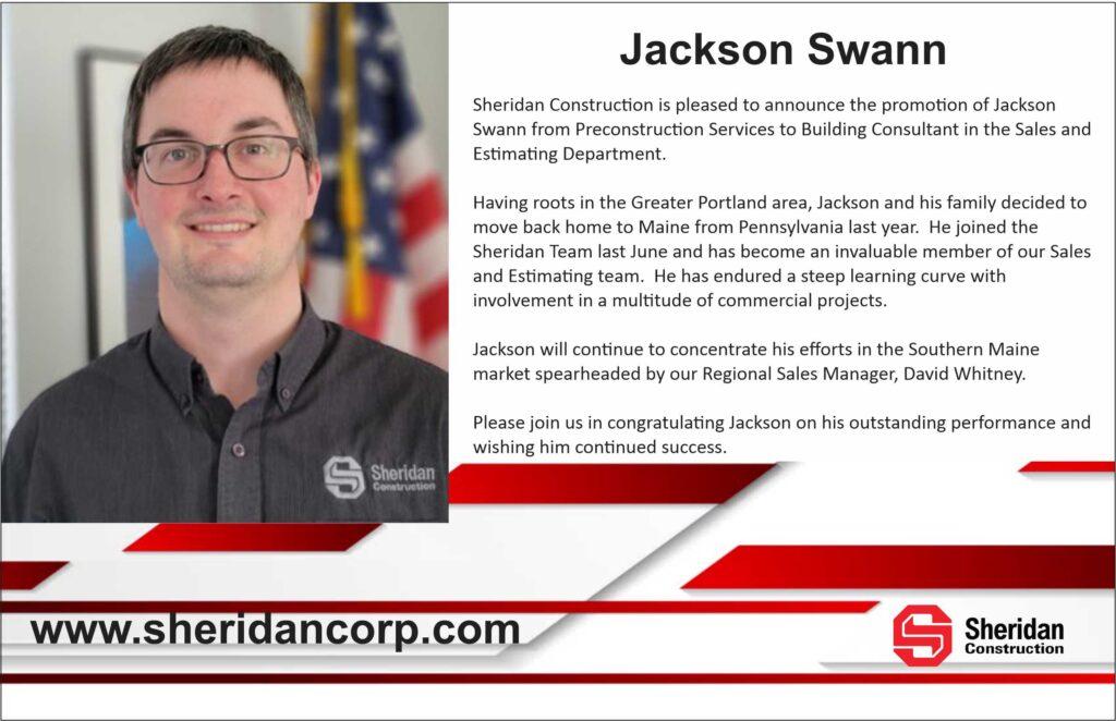 Jackson Swann Promotion