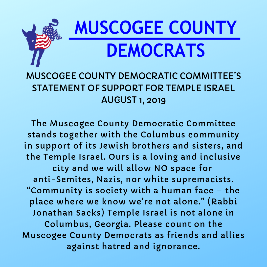 Statement of Support for Temple Israel