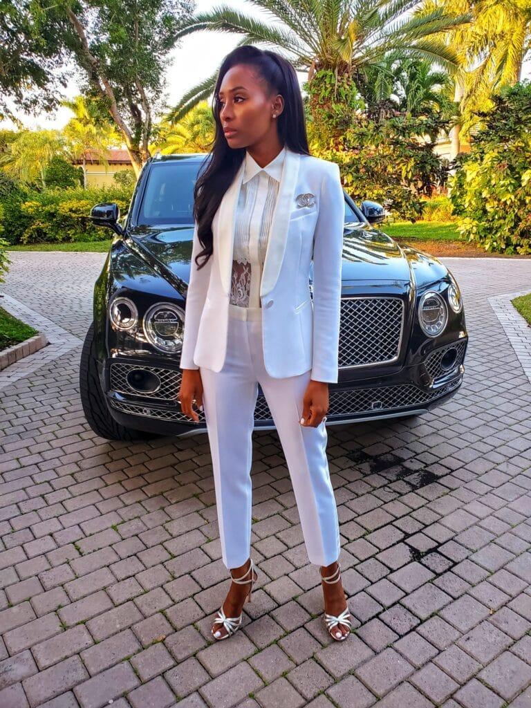 womens all white tuxedo