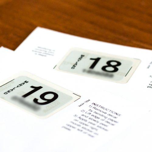 Substitute Registration Stickers