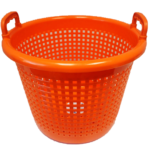 orange fishing basket