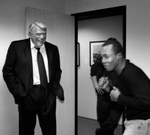 John Madden with Sugar Ray Leonard 300_#4355-398