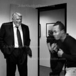John Madden with Sugar Ray Leonard #4355-398