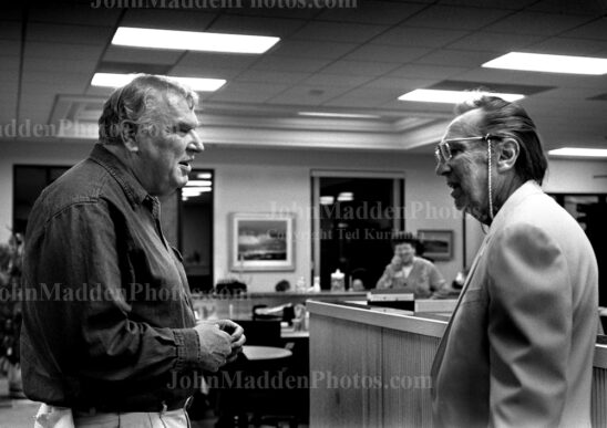 John Madden with Al Davis