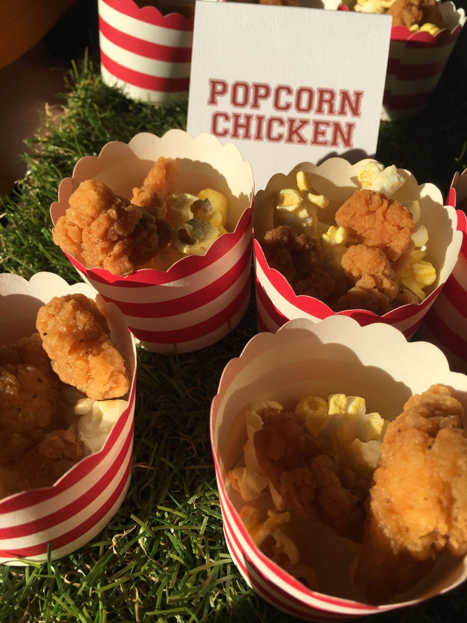 Mitzvah Catering Sports Theme Popcorn Chicken