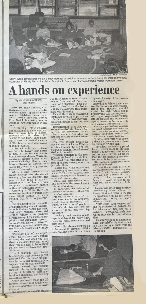 A Hands on Experience - Metrowest News - Feb. 6, 2001