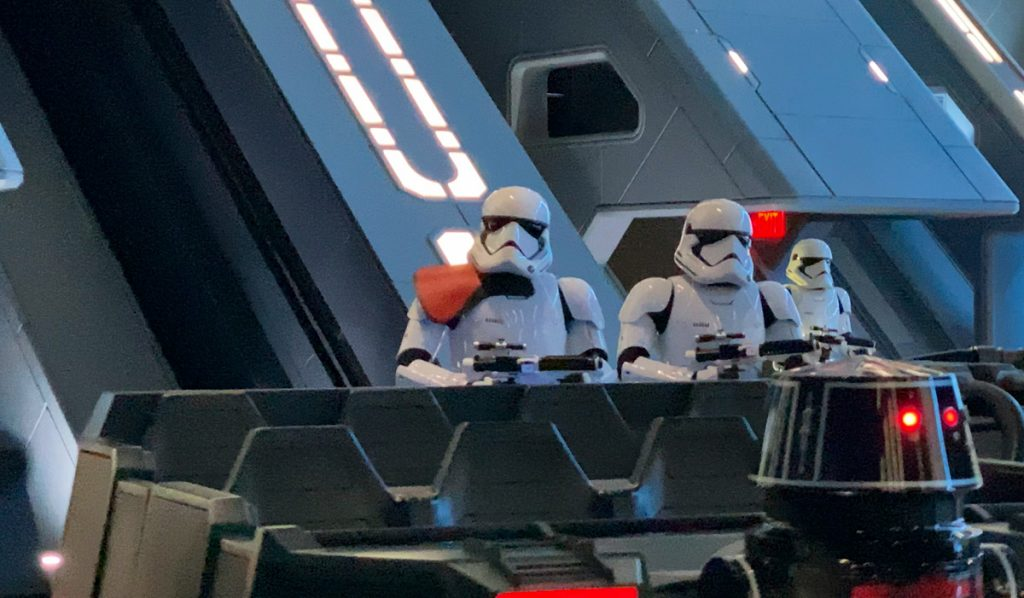 You are captured by stormtroopers on Star Wars Rise of the Resistance