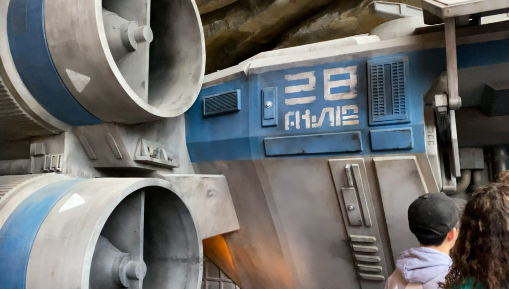 Take the shuttle to the heart of the Star Wars Rise of the Resistance experience