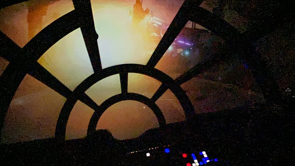 Star Wars Smugglers Run at Disneyworld gives people the chance to man the guns on the Millennium Falcon